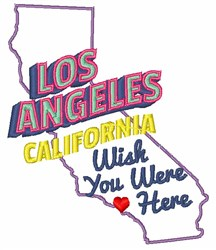 Wish You Were Here embroidery design