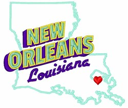New Orleans Louisiana embroidery design