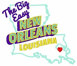 The Big Easy embroidery design
