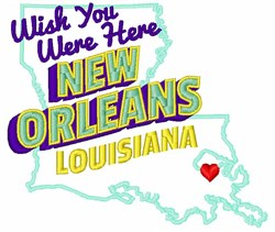 New Orleans, Louisiana embroidery design