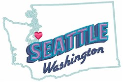 Seattle Washington embroidery design
