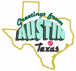 Austin Greetings embroidery design