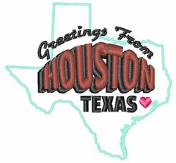 Houston Greetings embroidery design
