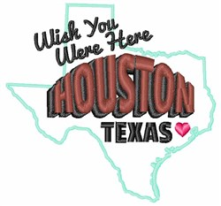 Were Here Houston embroidery design