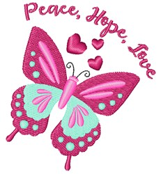 Peace Hope Love embroidery design