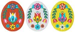 Folk Art Easter Eggs embroidery design