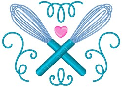 Baking Whisks embroidery design