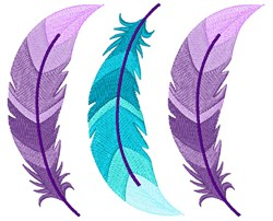 Bohemian Ombre Feathers embroidery design