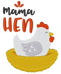 Mama Hen embroidery design