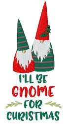 Gnome For Christmas embroidery design