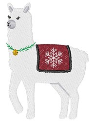 Christmas Llama embroidery design