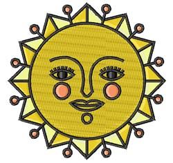 Sun Face embroidery design