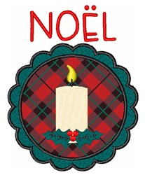 Noel Candle embroidery design