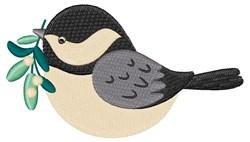 Winter Chickadee embroidery design
