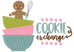 Cookie Exchange embroidery design