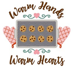 Warm Hands Warm Hearts embroidery design