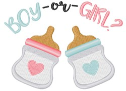 Boy Or Girl embroidery design