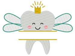 Tooth Fairy Name Drop embroidery design