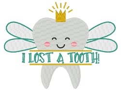 Lost A Tooth embroidery design