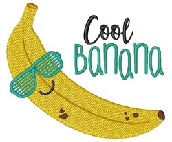 Cool Banana embroidery design