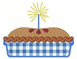 Pie & Sparkler embroidery design