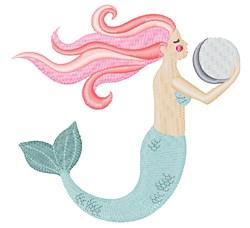 Mermaid & Pearl embroidery design