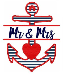 Mr & Mrs embroidery design