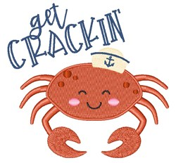 Get Crackin embroidery design