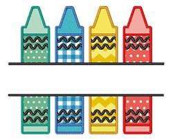 Crayons Name Drop embroidery design