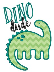 Dino Dude embroidery design