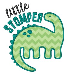 Little Stomper embroidery design