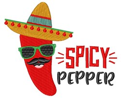 Spicy Pepper embroidery design