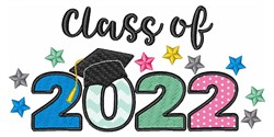Class of 2022 embroidery design