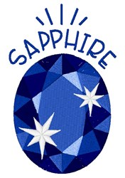 Sapphire Birthstone embroidery design