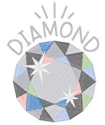 Diamond Birthstone embroidery design