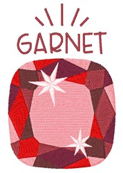 January Birthstone embroidery design