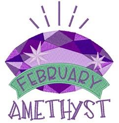 Amethyst Birthstone embroidery design