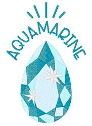 Aquamarine Birthstone embroidery design