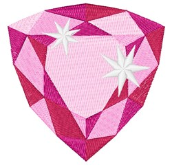 Tourmaline Birthstone embroidery design