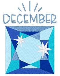 December Birthstone embroidery design