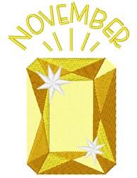November Birthstone embroidery design