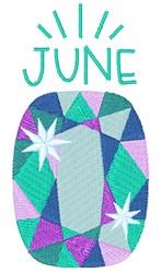 Alexandrite Birthstone embroidery design