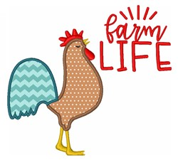 Farm Life Rooster embroidery design