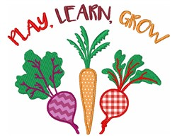Play Learn Grow embroidery design