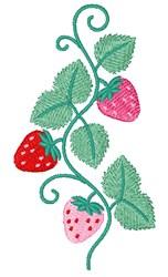 Strawberry Border embroidery design