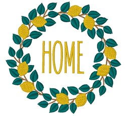 Lemon Wreath Home embroidery design