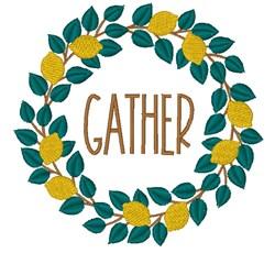 Lemon Wreath Gather embroidery design