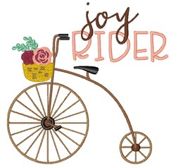 Joy Rider Bicycle embroidery design