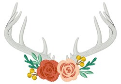 Antlers And Roses embroidery design