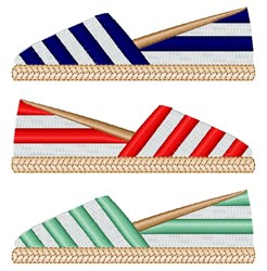 Espadrille Summer Shoes embroidery design